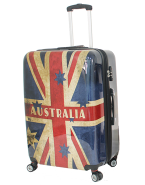 Australian Luggage Co Aus Flag Hard Trolley Case
